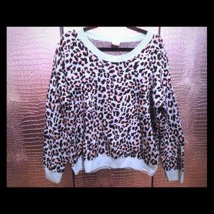 Victoria's Secret PINK Wool Sweater leopard print